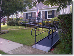 black high porch ramp
