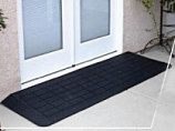 Rubber Threshold Ramp Black RTRB